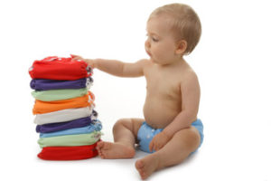 Reusable baby nappies with baby
