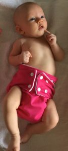 Reusable baby nappy pink