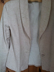 Jacket made from wild silk fabric