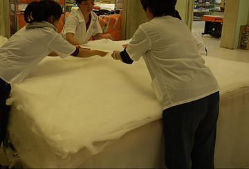 Silk duvet making