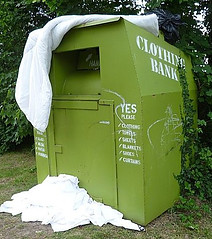 Clothes recycling bank