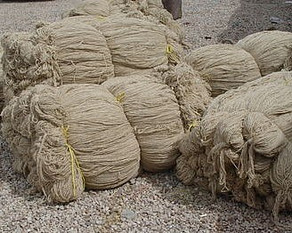 Uncolored yarn waiting to be dyed