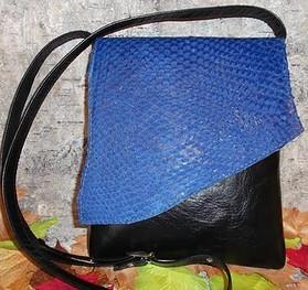 Salmon skin leather handbag