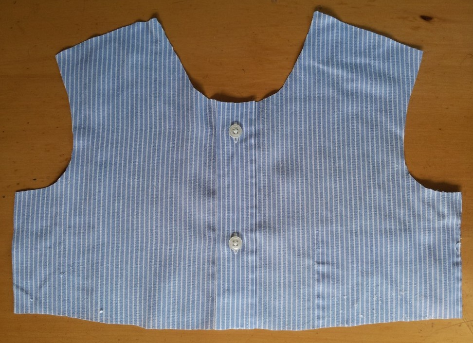 Upcycled clothing project - bodice front
