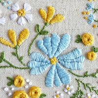 Hand crfts satin stitch