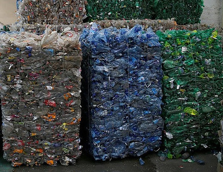 Plastic bottle recycling to make clothing from recycled plastic