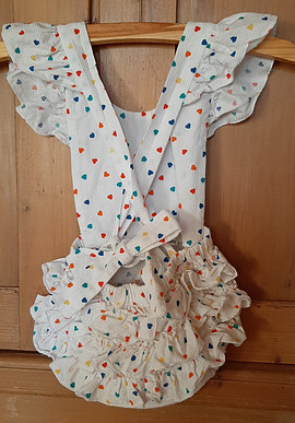 Romper with frills