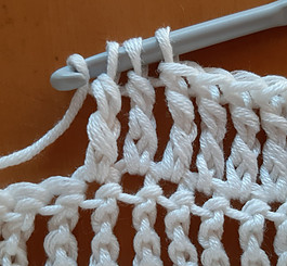 Decreasing treble crochet