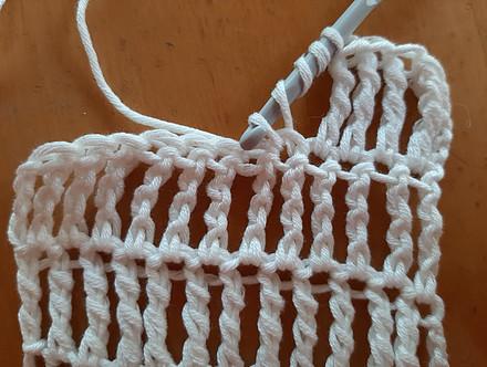 Double treble crochet stitch