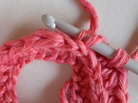 Learn to crochet camel stitch and insert in the 3rd loop