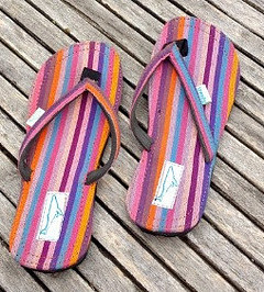 Whalethreads recycled rubber flip flops thongs