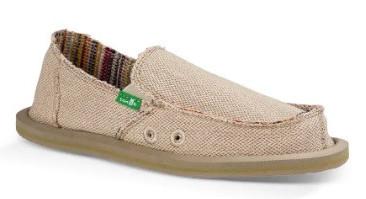 Sanuk vegan hemp shoes
