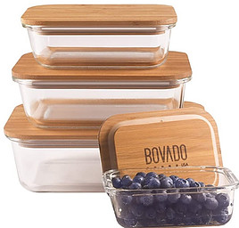 Bamboo lids used for storage containers