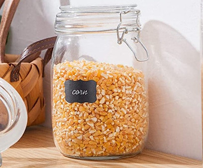 Glass mason storage jars
