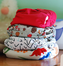 Reusable baby nappies