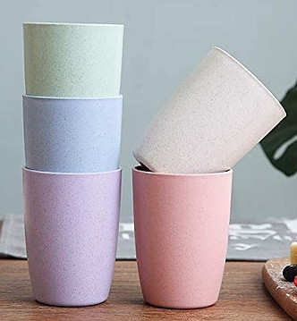 Biodegradable Wheat straw cups