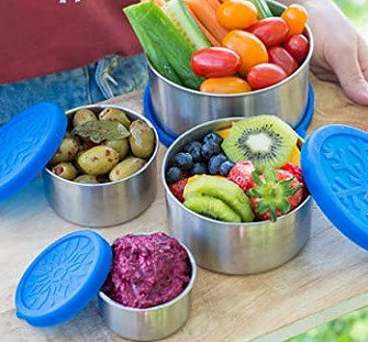 Stainless steel food storage container