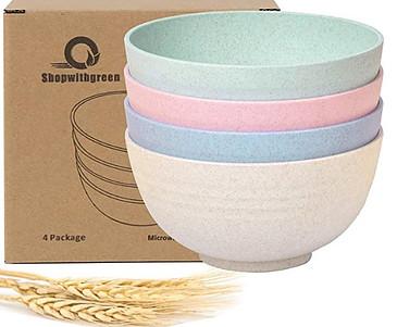 Wheat straw bowls
