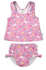 Baby reusable swim diaper with tankini top