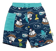 Green Sprouts baby products boy's swimming trunks with built-in swim diaper