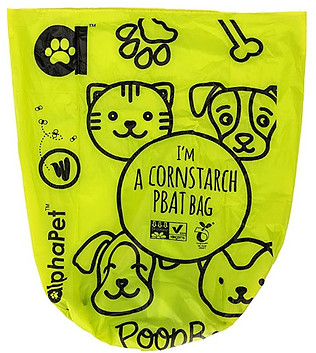 Corn starch plastic poop bags