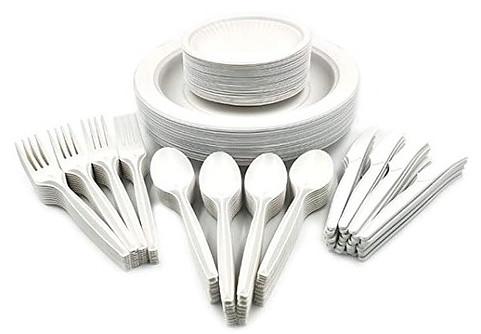 Corn starch plastic tableware