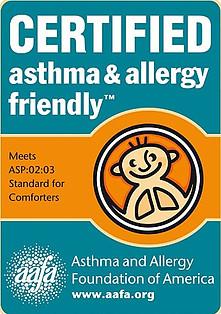 Smartsilk duvet certified asthma and allergy friendly