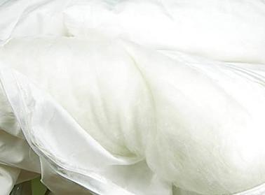 The inside of a Mulberry silk filled duvet
