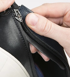 ACBC zipshoes with zip connecting the upper to the sole