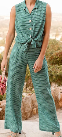 Cupro designer resort wear women trousers