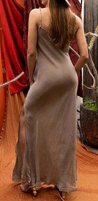Cupro fabric in designer resort wear women dresses