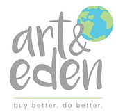 Logo of Art and Eden sustainable organic clothing