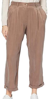 Sheen on cupro designer resort wear women trousers