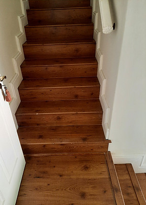 most sustainable hardwood flooring is perfect for staircases