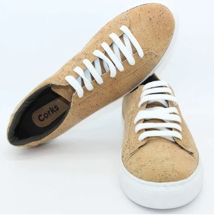 Cork leather shoes are on the sustainable materials list