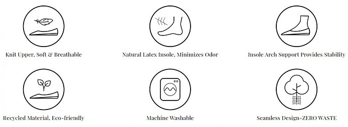 Features of machine washable shoes women