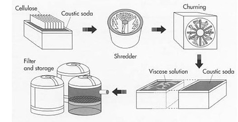 Viscose production steps