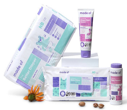 Made of organic baby diapering products