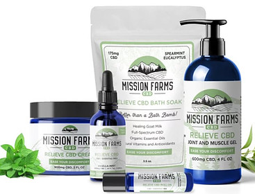 Mission Farms CBD full spectrum CBD oil for pain bundle